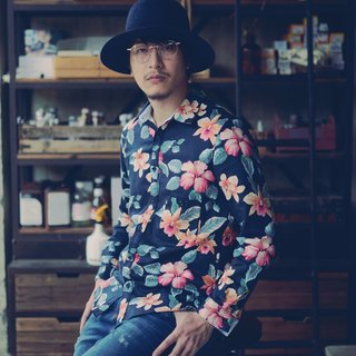 Japan double yarn tea flower full version printing shirt