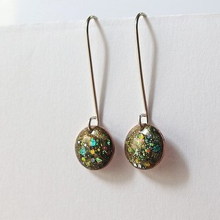 Psychedelic Macaron 925 silver earrings