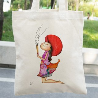 Straight │ canvas bag lady love telling │Chien