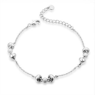 Hong Kong Design BLING BLING 925 silver bracelet plated platinum moving Sweetheart