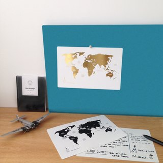 Globetrotting - 1+1 hand in hand around the world postcard set