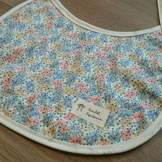 European Blue Red Rose Baby Bib