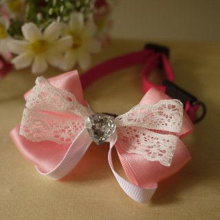 [Security] bright pink lace pet collar x Small cats and dogs love Type / Collar / tie / Jojo ♥ cherry pudding Cherry Pudding ♥
