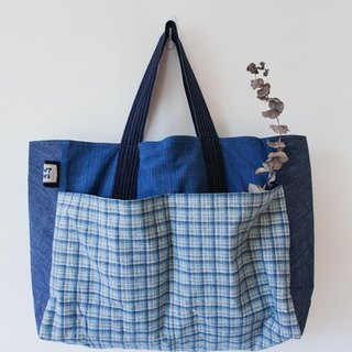 Brut Cake handmade fabric - weekender, big  capacity tote bag