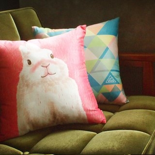 / Animal friends / Anand afternoon peace of rabbits square pillow pillow containing