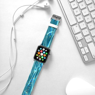 Apple Watch Series 1 , Series 2, Series 3 - Abstract art Blue Watch Strap Band for Apple Watch / Apple Watch Sport - 38 mm / 42 mm avilable