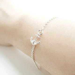 ANCHOR- Delicate Silver Chain Bracelet Anklet