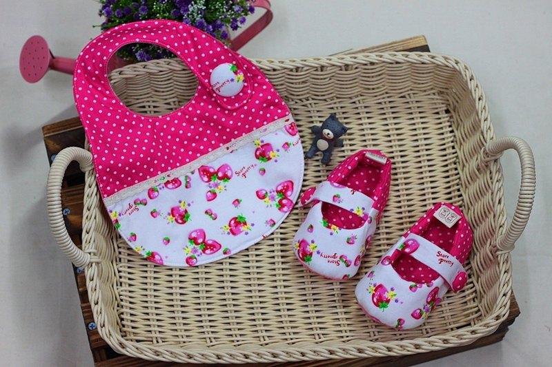 Small strawberry pink shoes + pocket toddler shoes group