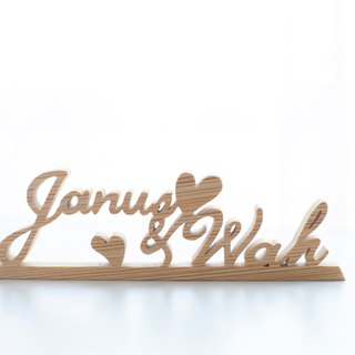 Camping Valentine's Day Birthday Gift Customized Name Gift Handmade Wood House Tag Hanging Decoration - M