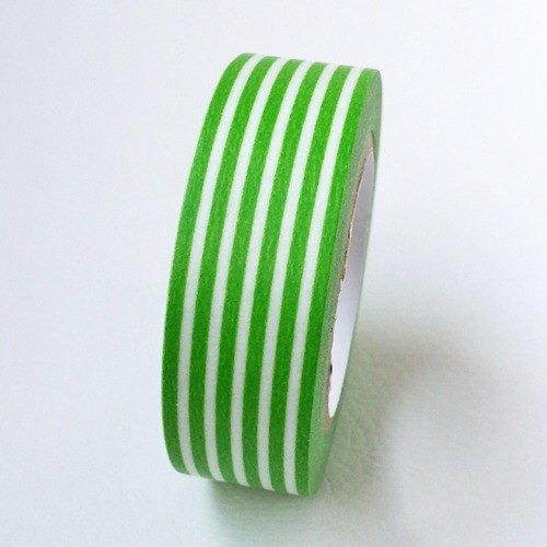 Mt and paper tape Deco (horizontal stripes - if green (MT01D320)) finished product / out of print products