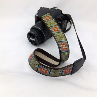 Camera strap can print personalized custom leather stitching national wind embroidery pattern 022