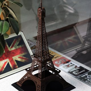 Dong Qi metalworking] [OPUS Eiffel Tower in Paris, France custom architectural model / metal crafts / Christmas celebration / spatial arrangement / window decoration / home decoration / Furnishings Design (Coffee Brown)