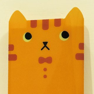 hime's cats my cat portable notebook - orange cat todo notebook slipcase +