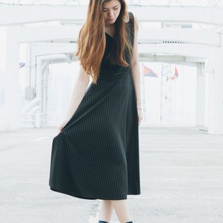 <Limited time offer until July 13> Black stripe maxi dress - Hong Kong design brand Lapeewee