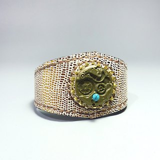 [Mania] ANITA hand-made limited edition handmade sheepskin ‧ x light shines soft texture unique vintage bracelet - Specials