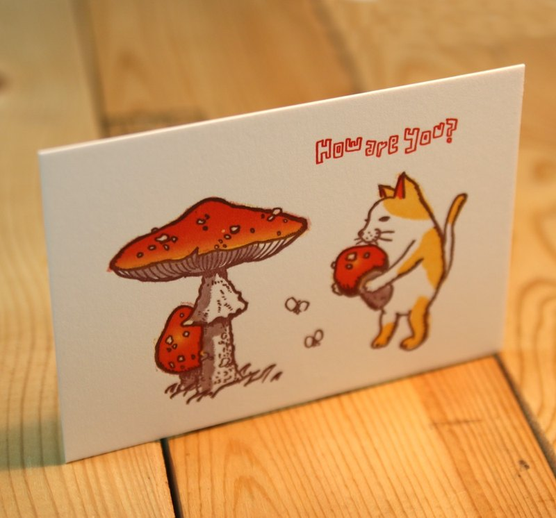 I like mushrooms. ---Letterpress card