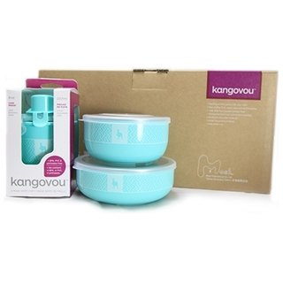 【Misso Gift Box】Kangovou 100 Simple Set with Cutlery Set--Mint Green