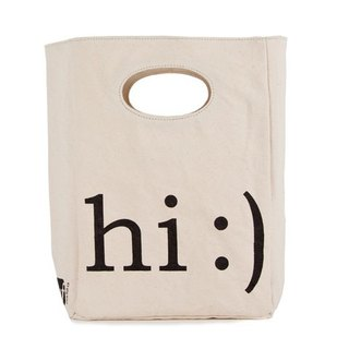 Canadian fluf Hi! organic cotton bag/handbag/handbag