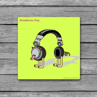 HeadphoneDog handmade wooden frame canvas / Charm