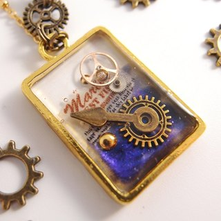 Steam punk [CN0177]. Refreshing gem pointer x x x Gear x hypoallergenic small love letter necklace fade