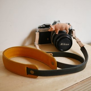 Lemon yellow camera strap
