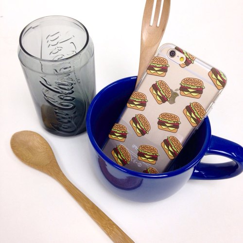 American Hamburger Pattern Print Soft / Hard Case for iPhone 5/5S, iPhone 4/4S, Samsung Galaxy Note 4 Note 3, S5, S4, S3