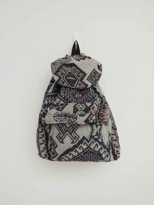 After the national wind backpack (small) stone complex pattern