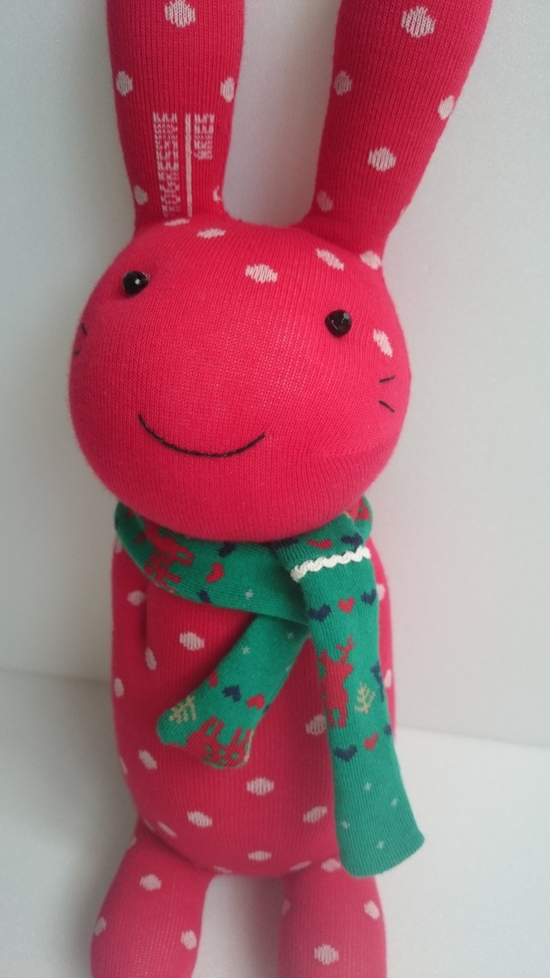 Christmas rabbit (small) doll socks doll rabbit Christmas present