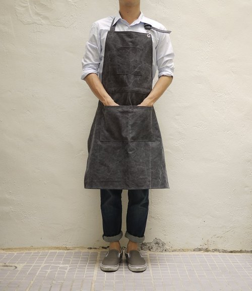Washed Canvas 01 Full Length Apron