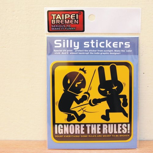 """Taipei Bremen"" Mickey eel spoof stickers (large size vehicles) - IGNORE THE RULES Do not worry about the rules! (Warning yellow rabbit fencing)"