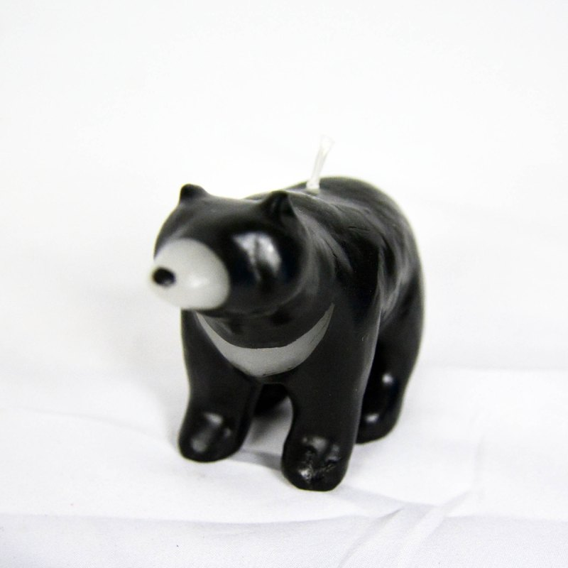 Taiwan black bear candle _ fair trade