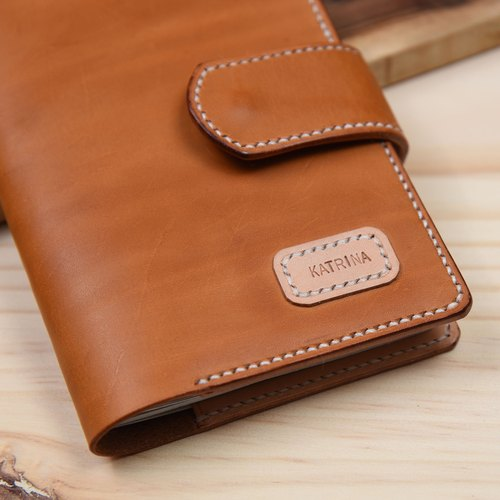 Goofy - vegetable tanned leather passport cover