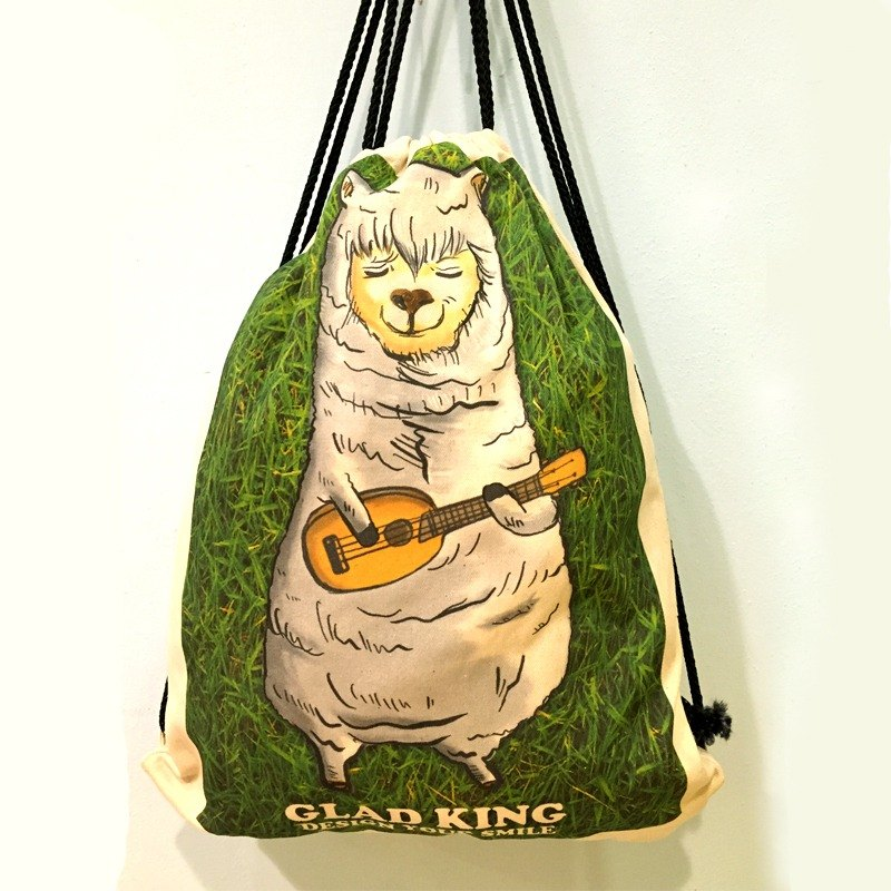 Grass horse horse alpaca ukulele canvas back / shopping bag / bag / portable bag / Wen Qing / category canvas / gift / shoulder /