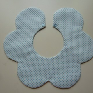 Blue births little flower ceremony two groups bibs + pacifier clip