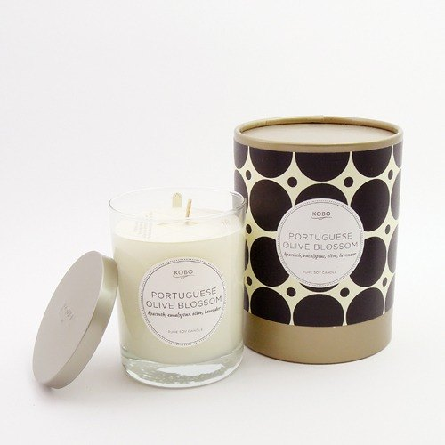 [KOBO - US soybean oil candles - Portugal Olive Flower (330g / combustible 80hr)