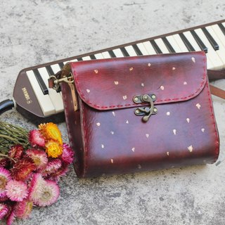 Classical crossbody vegetable tanned leather bag -Sweet  Fruit