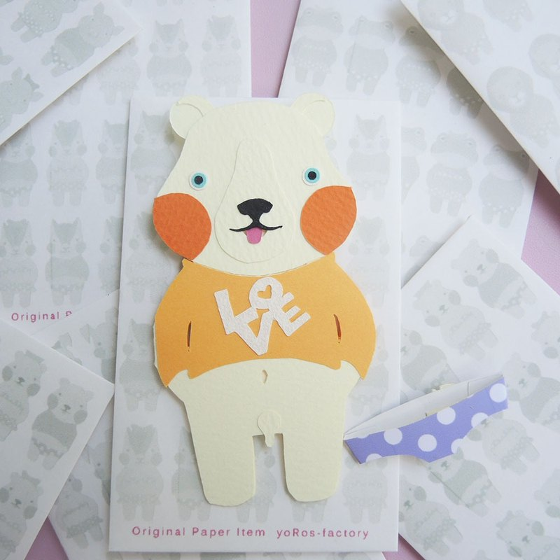 【PORORI CARD】SHIRO KUMA (LOVE)