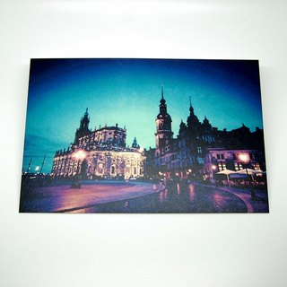 Travel Postcard: The night of Dresden, Dresden, Germany