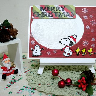 Christmas cards (greeting card) - handmade cards Happy Snoopy