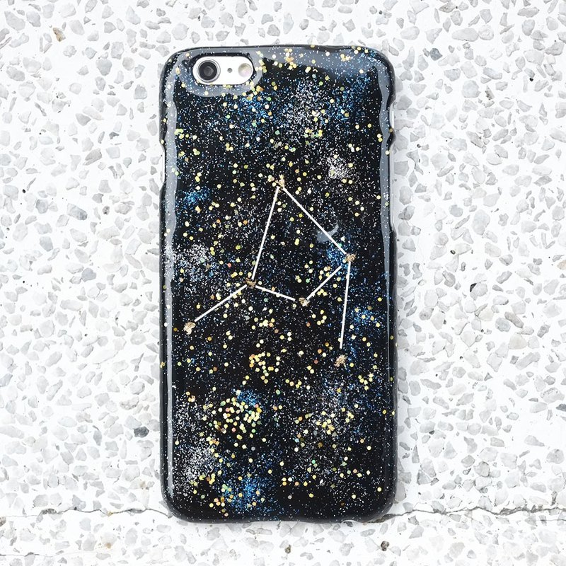 Stardust series ll constellation ll hand-painted oil painting wind phone shell