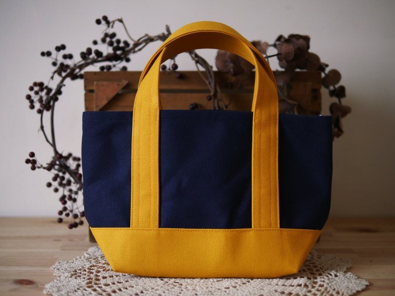 Classic Tote Ssize navy x sunflower - navy blue x sunflower -