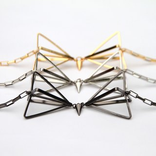 3D Bow-tie Necklace