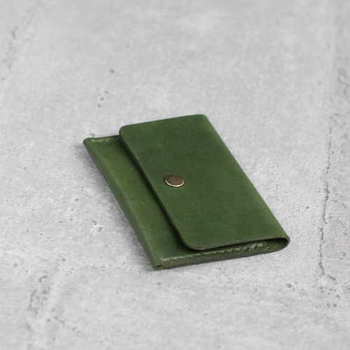 Small leather card case
