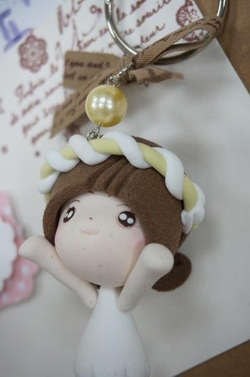 Handmade mini koli girl doll Charm