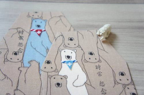 Often miss the polar bear _ octagonal hand-made cards (three-dimensional banner, I: The Blue Bear: Last one)