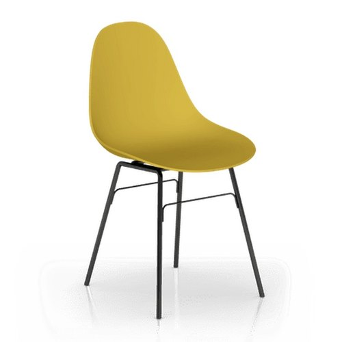 TOOU Side Chair with black Legs (Mustard Yellow)