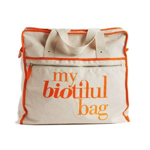 France my biotiful bag Organic Cotton Weekend Bag-Orange