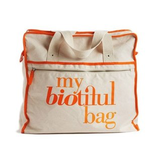 法國my biotiful bag有機棉Weekend Bag-Orange