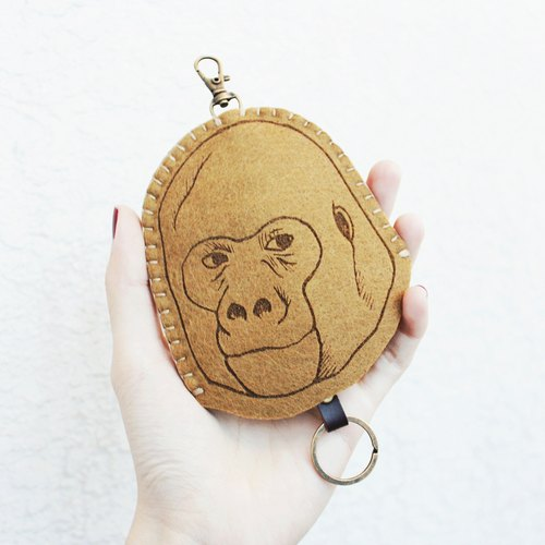Animal- animal series - wool felt Wallets Key sets / sheep blankets key sets < <Coffee orangutan 是猴子還是猩猩?> >