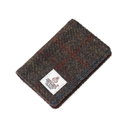 HARRIS TWEED CARD WALLET - D.BROWN